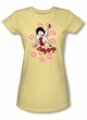 Betty Boop Juniors T-shirt Kisses Banana Tee