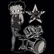 Betty Boop Juniors T-shirt With The Band Black Tee