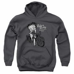 Betty Boop Kids Hoodie BBMC Charcoal Youth Hoody