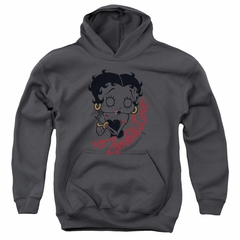 Betty Boop Kids Hoodie Classic Zombie Charcoal Youth Hoody
