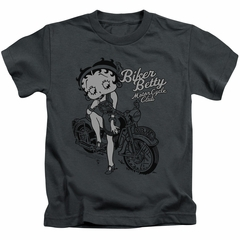 Betty Boop Kids Shirt BBMC Charcoal T-Shirt