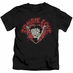 Betty Boop Kids Shirt Heart You Forever Black T-Shirt