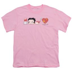 Betty Boop Kids Shirt Symbols Pink T-Shirt