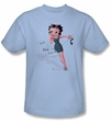 Betty Boop Kids T-shirt Blah Blah Blah Youth Light Blue Tee Shirt