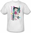 Betty Boop Kids T-shirt Booping 80s Style Youth White Tee Shirt