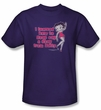 Betty Boop Kids T-shirt Learned From Betty Youth Purple Tee Shirt