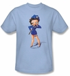 Betty Boop Kids T-shirt Officer Boop Youth Light Blue Tee Shirt