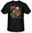 Betty Boop Kids T-shirt On Wheels Youth Black Tee Shirt