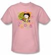 Betty Boop Kids T-shirt Peace Love And Boop Youth Pink Tee Shirt
