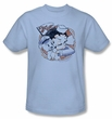 Betty Boop Kids T-shirt S.s. Vintage Youth Light Blue Tee Shirt