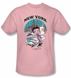 Betty Boop Kids T-shirt Singing In New York Youth Pink Tee Shirt