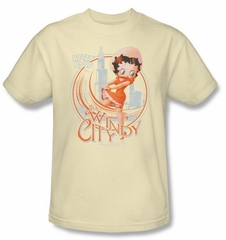 Betty Boop Kids T-shirt The Windy City Youth Cream Tee Shirt