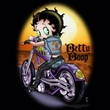 Betty Boop Kids T-shirt Wild Biker Youth Black Tee Shirt