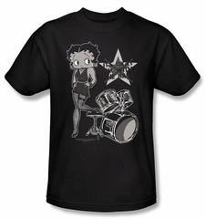 Betty Boop Kids T-shirt With The Band Youth Black Tee Shirt