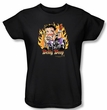 Betty Boop Ladies T-shirt Biker Flames Boop Black Tee Shirt