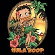 Betty Boop Ladies T-shirt Hula Boop Black Tee Shirt