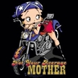 Betty Boop Ladies T-shirt Not Your Average Mother Black Tee Shirt