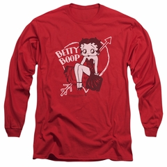 Betty Boop Long Sleeve Shirt Lover Girl Red Tee T-Shirt