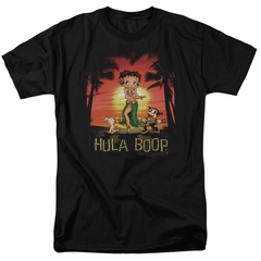 Betty Boop Shirt Hulaboop Black Tee T-Shirt