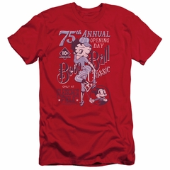 Betty Boop Slim Fit Shirt Boop Ball Red T-Shirt