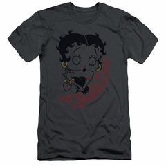 Betty Boop Slim Fit Shirt Classic Zombie Charcoal T-Shirt
