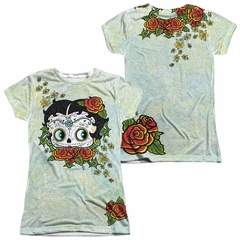 Betty Boop Sugar Boop Sublimation Juniors Shirt Front/Back Print