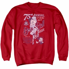 Betty Boop Sweatshirt Boop Ball Adult Red Sweat Shirt