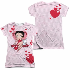 Betty Boop Sweetheart Sublimation Juniors Shirt Front/Back Print