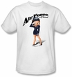 Betty Boop T-shirt Air Force Boop Adult White Tee