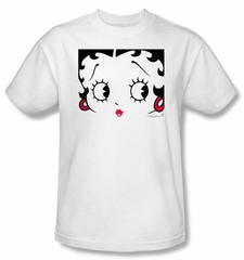 Betty Boop T-shirt Close Up Adult White Tee