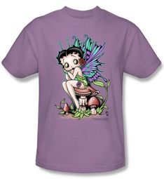 Betty Boop T-shirt Fairy Adult Lilac Tee