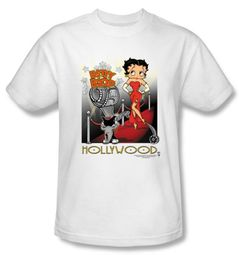 Betty Boop T-shirt Hollywood Adult White Tee