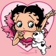 Betty Boop T-shirt I Love Betty Adult Pink Tee
