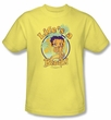 Betty Boop T-shirt Life's A Beach Adult Banana Tee Shirt
