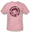Betty Boop T-shirt Oop A Doop Adult Pink Tee