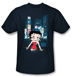 Betty Boop T-shirt Square Adult Black Tee