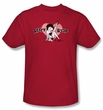 Betty Boop T-shirt Vintage Cutie Pup Adult Red Tee Shirt