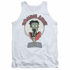 Betty Boop Tank Top Breezy Zombie Love White Tanktop