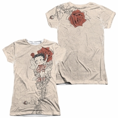 Betty Boop Thorn Boop Sublimation Juniors Shirt Front/Back Print