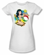 Betty Page Shirt Beach Bettie White Juniors T-shirt