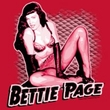 Betty Page Shirt Pin Up Queen Red T-shirt