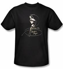 Betty Page Shirt Whip It Black T-shirt