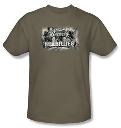 Beverly Hillbillies T-shirt Logo Adult Safari Green Tee