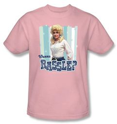 Beverly Hillbillies T-shirt Wanna Rassle Adult Pink Tee