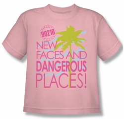 Beverly Hills 90210 Kids Shirt Tagline Pink Youth Tee T-Shirt