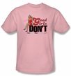Beverly Hills 90210 Kids T-shirt Good Girls Don't Youth Pink Tee Shirt