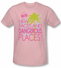 Beverly Hills 90210 Shirt Tagline Adult Pink Tee T-Shirt