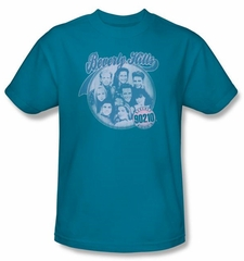 Beverly Hills 90210 T-shirt Circle Of Friends Adult Turquoise Shirt