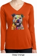 Beware of Pit Bulls Ladies Dry Wicking Long Sleeve Shirt