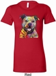 Beware of Pit Bulls Ladies Longer Length Shirt
